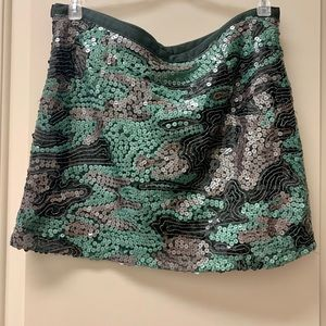 NWOT Gudi Sequin Camo Skirt Size 4